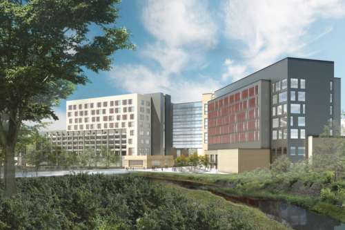 Med School building rendering