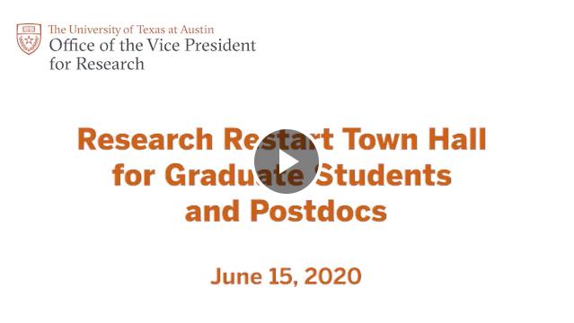 Video_Screen_Town Hall_GradStudents_Postdocs