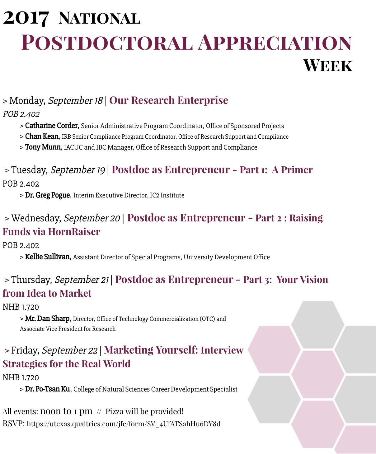 Postdoc Week 2017 Flyer