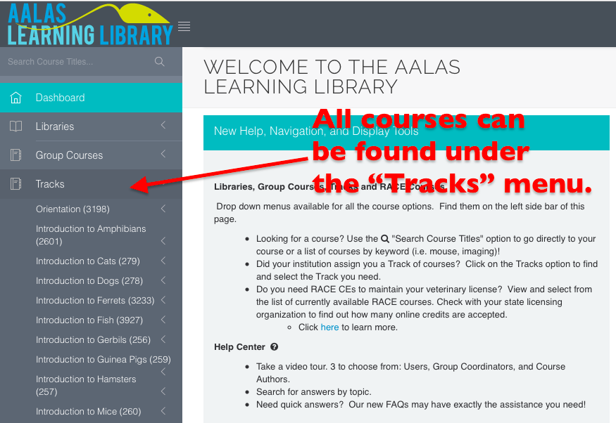 AALAS Learning Libraries