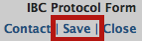 IBC Protocol Form Save Button
