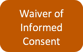 waiver of informed consent icon